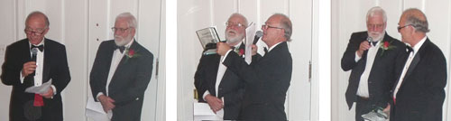 Harry Stimpsom presents the award to George Ohrstrom