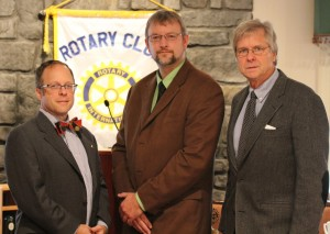 Shepherdstown Rotary Club President Paul Woods, Upper Potomac River Manager Brent Walls and TDP Executive Director Bill Howard